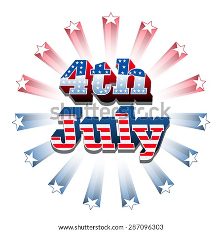 American 4th of july, vector - stock vector