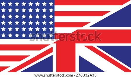american uk flag - stock vector