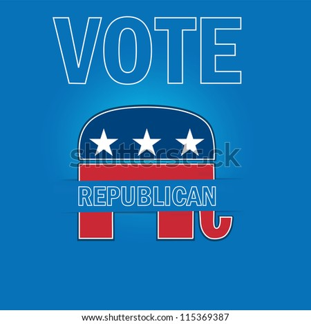 American Voting Campaign Republican Applique Vector Background. - stock vector