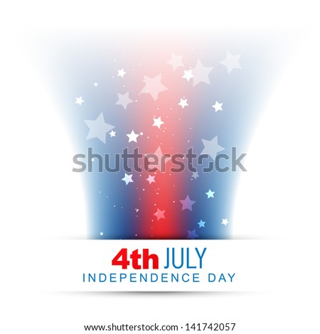american wave style flag design background - stock vector