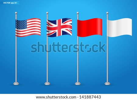 American with england flag, Vector illustration template design  - stock vector