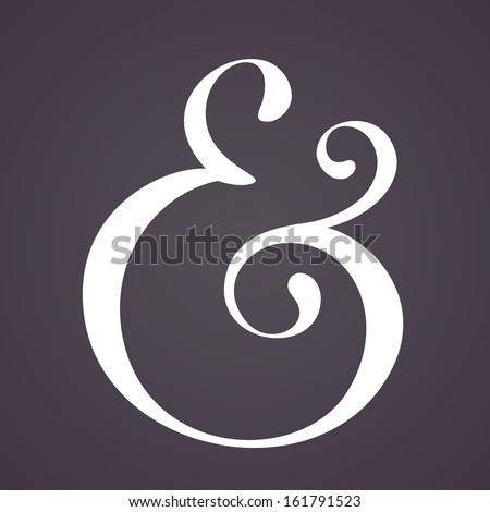 Ampersand for decoration. Vector illustration - stock vector