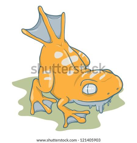 Amphibian Monster Vector - stock vector