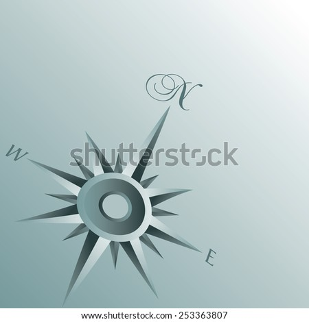 An Abstract Compass Background illustration - stock vector