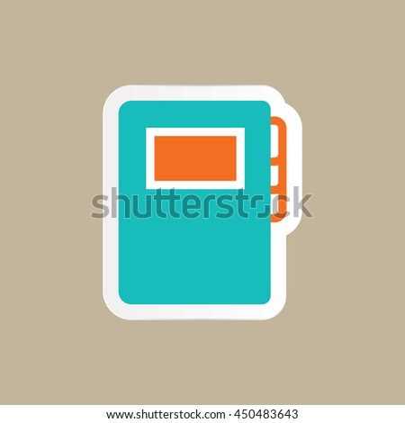 an agenda book icon in flat style - stock vector