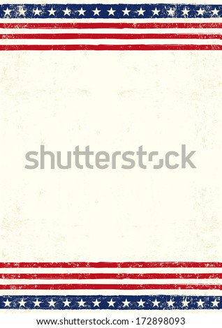 An american background for you with a large empty space for your text - stock vector