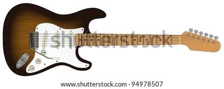 An Electric Guitar - stock vector