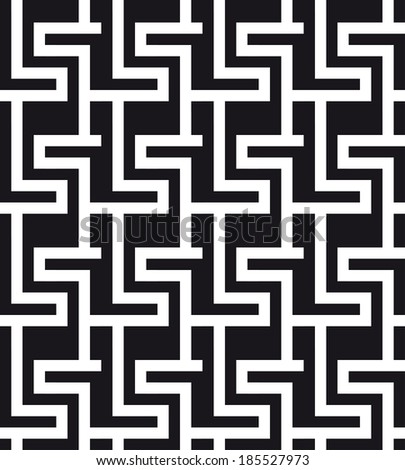 An elegant black and white pattern - stock vector