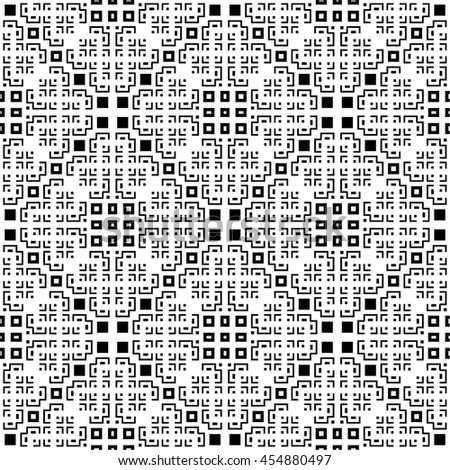 An elegant geometric black and white, vector pattern - stock vector