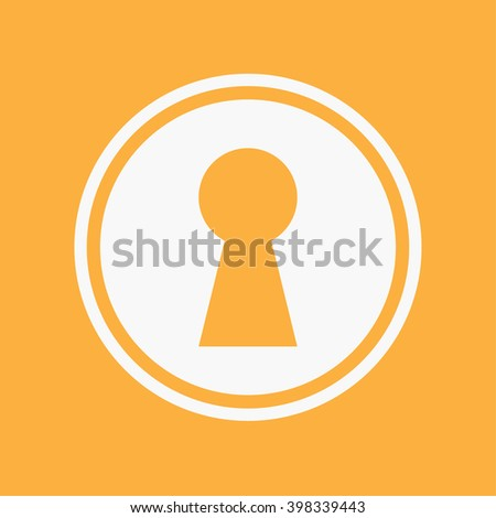 An Icon Illustration Isolated on a Background - Keyhole - stock vector