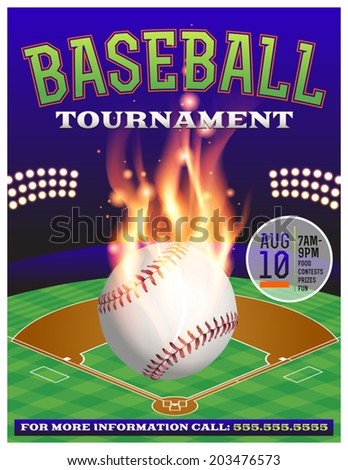 An illustration for a baseball tournament. Vector EPS 10 contains transparencies.  - stock vector