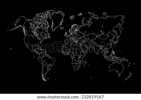 An Illustration of a colourfully filled outline of  Gambia - stock vector