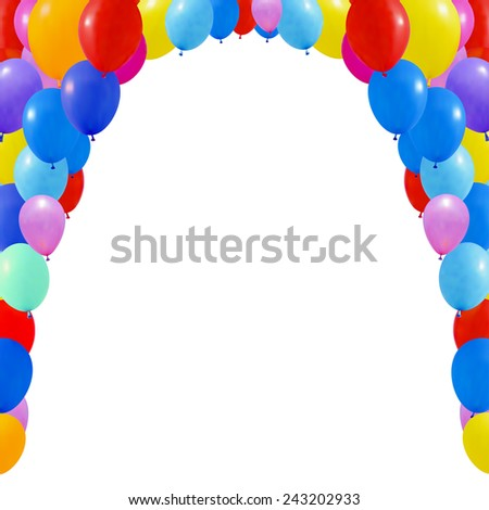 An illustration of a set of colorful balloons. Isolated on white - stock vector