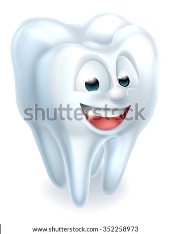 An illustration of a tooth dental mascot charcter  - stock vector