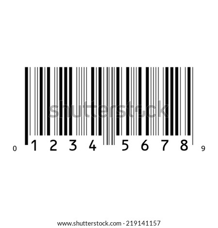 An Illustration of an Isolated Bar code - stock vector