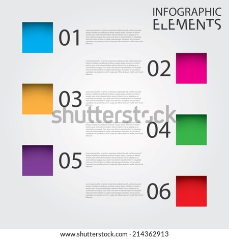 An Illustration of Modern infographic chart - stock vector