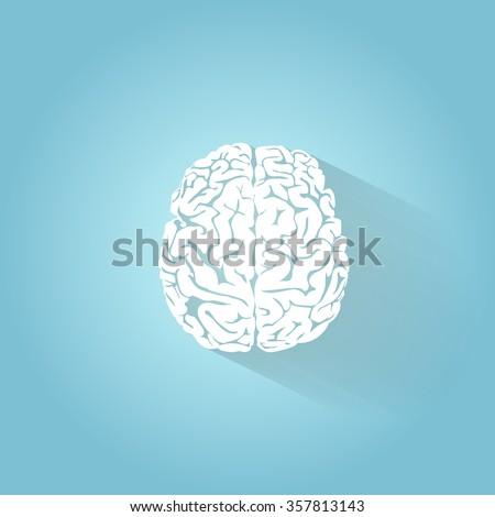 An illustration of the human brain - stock vector