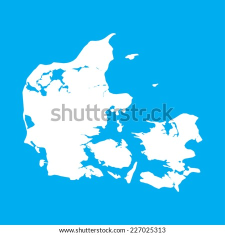 An Illustration on an Blue background of Denmark - stock vector