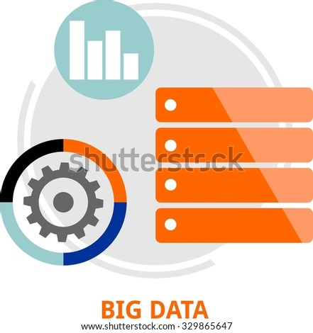 An illustration showing a big data concept - stock vector