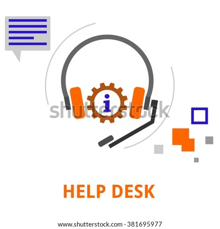An illustration showing a help desk concept - stock vector