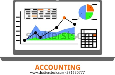 An illustration showing an accounting concept - stock vector