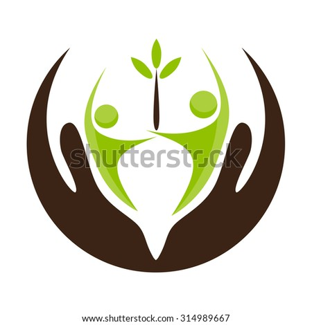 An image of a community support icon. - stock vector
