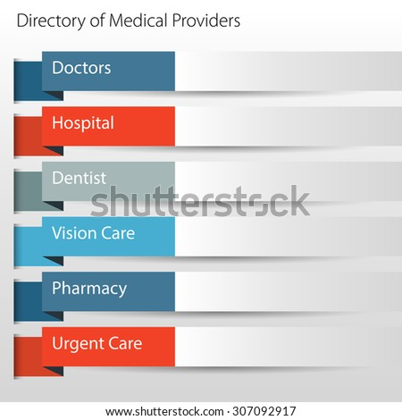 An image of a directory of medical providers icon. - stock vector