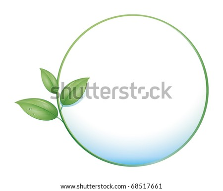 An image of a green nature concept icon - stock vector