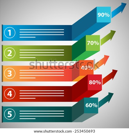 An image of a growing profits chart icon. - stock vector
