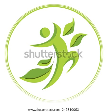 An image of a healthy person icon. - stock vector