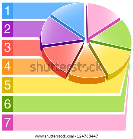 An image of a label areas pie chart. - stock vector