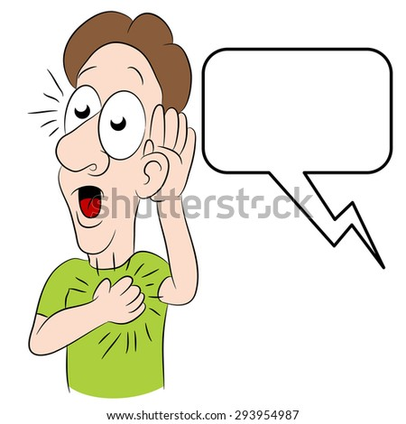 An image of a man hearing shocking news. - stock vector