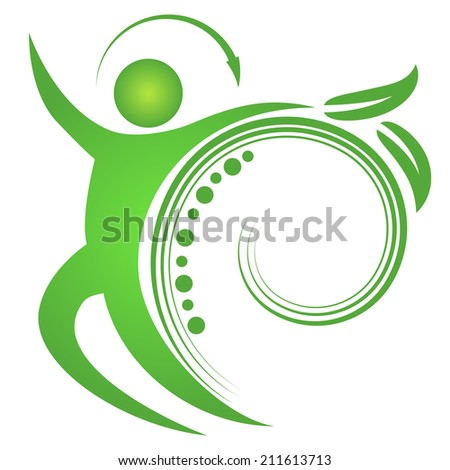 An image of a spine fit man. - stock vector
