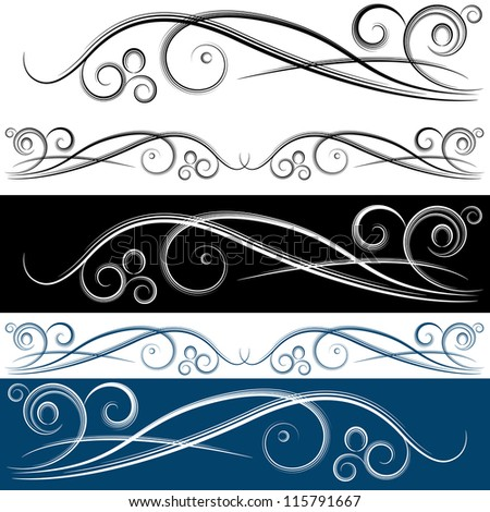 An image of a swirl banner set. - stock vector