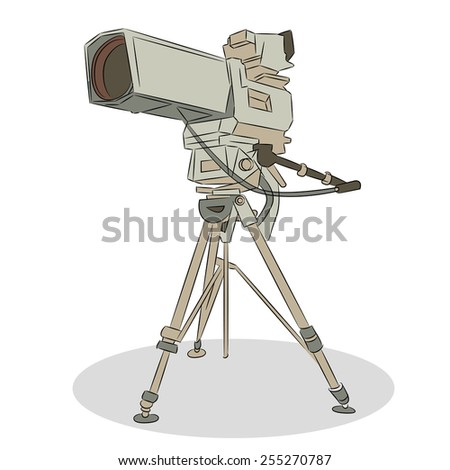 An image of a television video camera. - stock vector