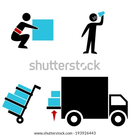 An image of a warehouse icons. - stock vector