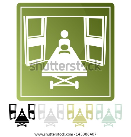 An image of an emergency room icon. - stock vector