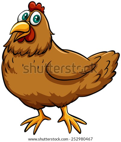 An image showing a spring chicken idiom - stock vector