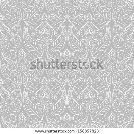 An intricate vintage seamlessly tilable repeating Islamic motif pattern - stock vector