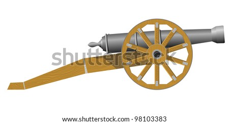 An old cannon. EPS10 - stock vector