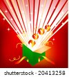 an open gift box with the new year emerging - stock vector
