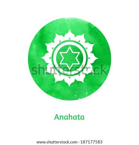 Anahata. Vector Illustration. - stock vector