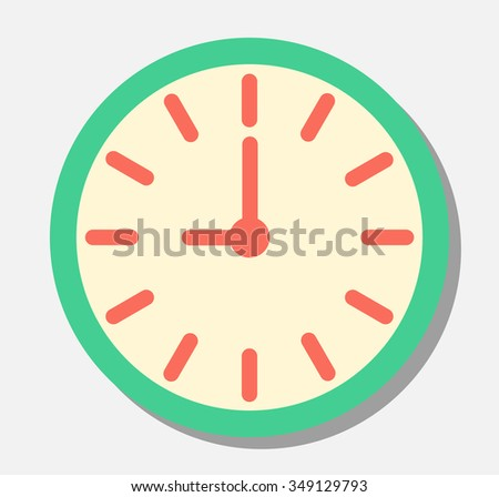 Analog Clock - stock vector