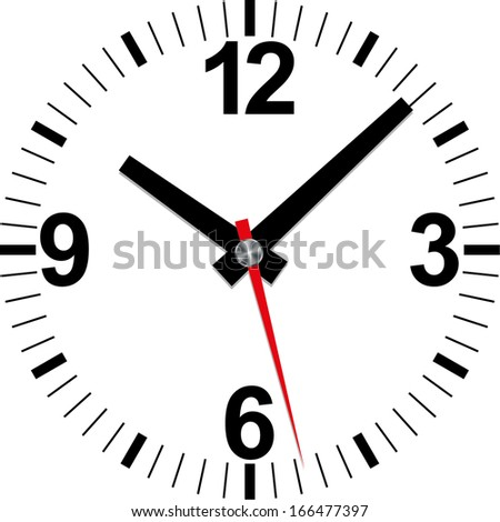 Analog clock icon, vector illustration  - stock vector