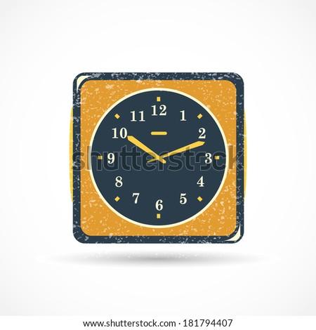 Analog Clock Illustration - stock vector