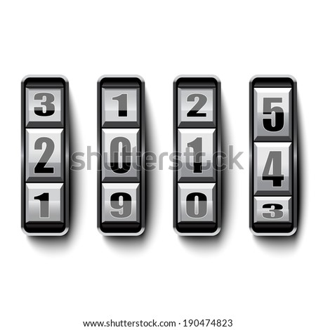 Analog year counter - stock vector