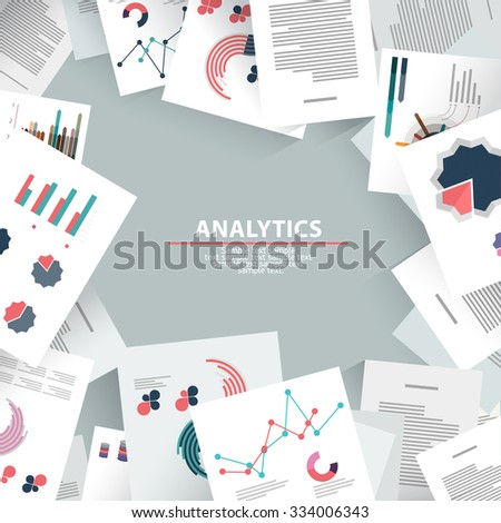 Analysis information and brainstorming. Flat design. - stock vector