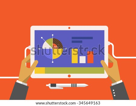 Analysis of actions infographic. Analytics and analysis icon, analyze and business analysis, research data analysis, strategy business, plan web, idea marketing seo illustration - stock vector