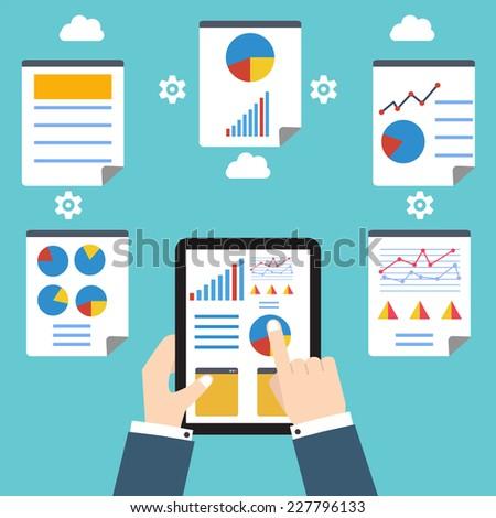Analytics and programming vector. Web application optimization. - stock vector