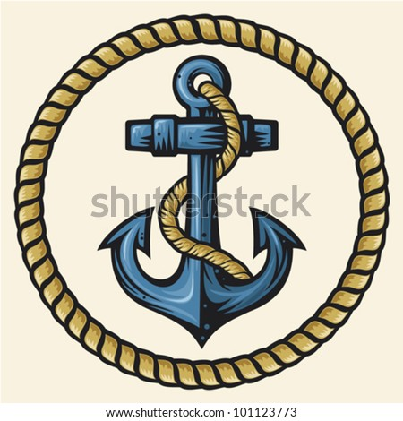 Anchor with rope logo